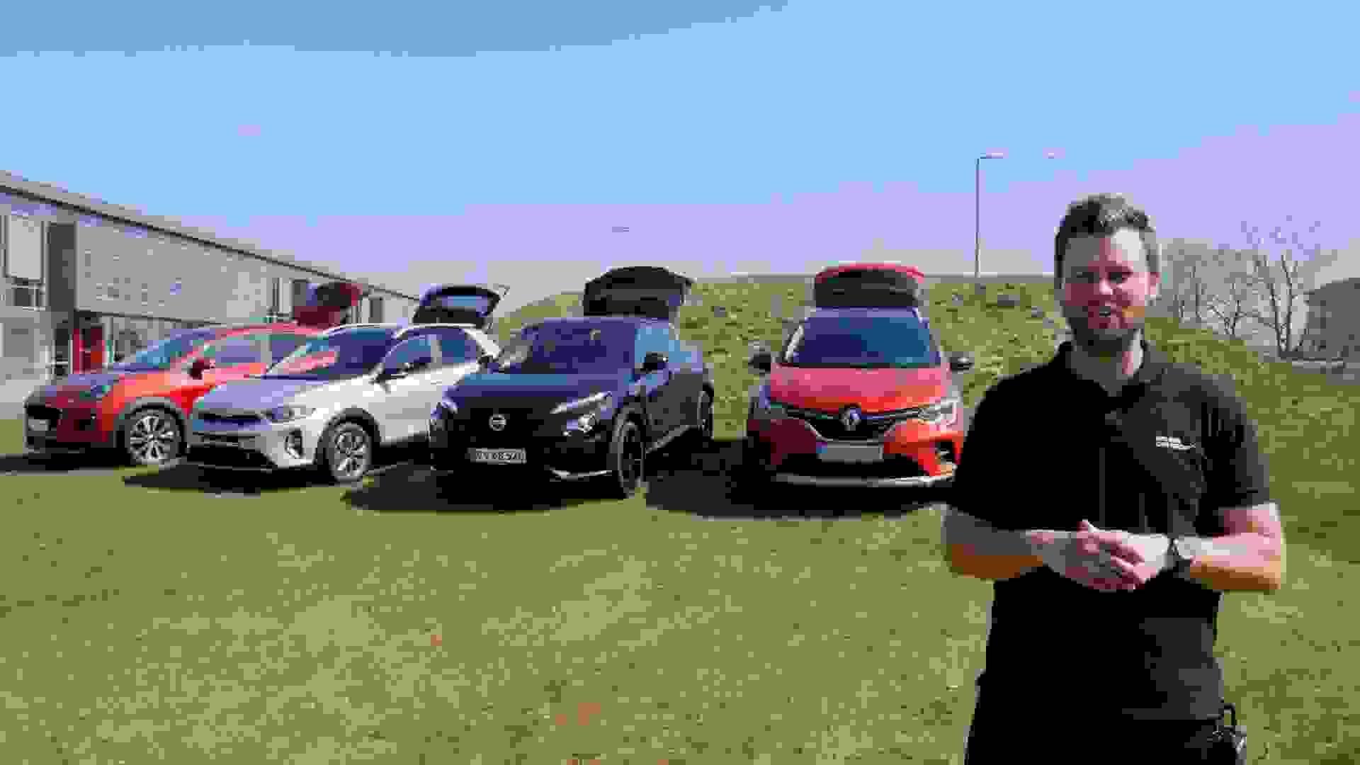 Bilguiden Sammenligning Crossover Forfra
