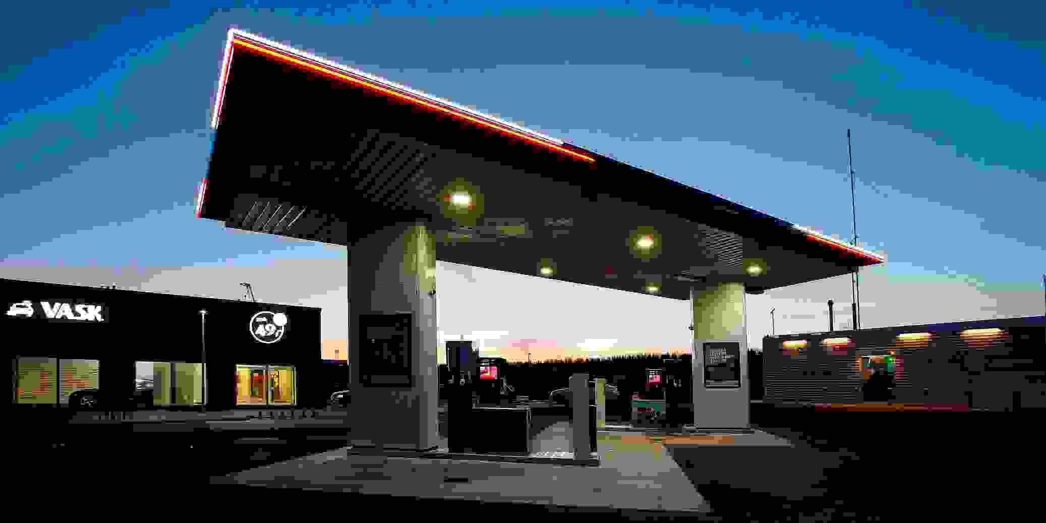 Tankstation LED